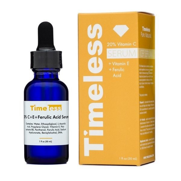 Timeless Skin Care 20% Vitamin C + E Ferulic Acid Serum 1 oz 20% VITAMIN C + E FERULIC ACID SERUM 1 OZ 30ML