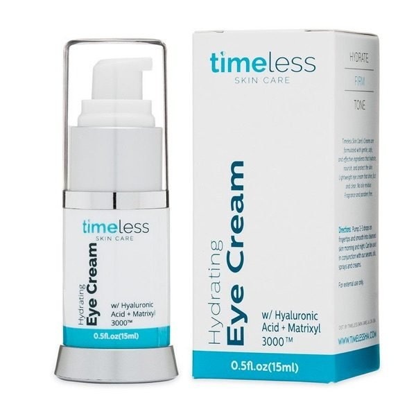 Timeless Skin Care Hydrating Eye Cream with Hyaluronic Acid 15ml 1 oz 2